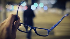 myopia (frax[be]) Tags: streetphotography atmosphere bokeh outdoor city 35mm fuji urban silhouette poetry night composition dof