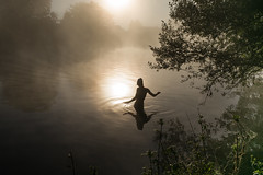 Wild swim before work (jeromestarkey) Tags: adventure autumn buckinghamshire bucks cold coldswimming dawn england homecounties mist morning nature outdoors swimming weather wildswimming