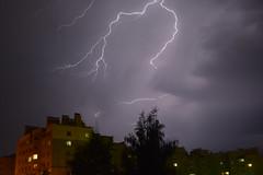 DSC_0178 (alexwinger) Tags: therebeastormabrewin lightning lightningstorm nikon night kaluga russia rain house violet noir orage 5200 d5200