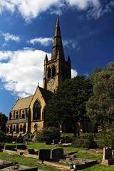 A Sunny Day (Malc '64') Tags: canon yorkshire ossett trinitychurch clouds blueskies clock tower church