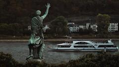 Koblenz Schlossgarten (dieforice) Tags: germany sonya6000 koblenz statue garden cruiseship river landscape