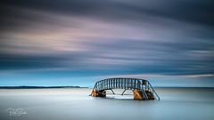 The Bridge to Nowhere (petebristo) Tags: bridgetonowhere tidal seacape sunset sea bridges leefilters bigstopper dunbar scotland