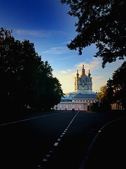 Smolny Cathedral | St. Petersburg (maryduniants) Tags: holy sky lightanddark lightinthedark colors orthodox russia stpetersburg smolny sobor cathedral light church