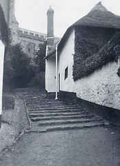Church Steps at Minehead Somerset 1950 (Bury Gardener) Tags: blackandwhite bw oldies old snaps scans monochrome mono 1950s 1950 england uk britain somerset minehead