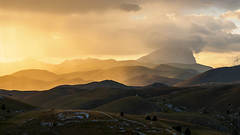 HDR from Rocca Calascio (Ganjee) Tags: hdr roccacalascio montagna mountains montidellalaga montagne abruzzo laquila tramonto sunset goldenhour clouds nuvole olympus em1 1240 m43 mft microfourthirds microquattroterzi