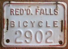 Redwood.Falls.Minnesota (rickpaulos) Tags: redwood falls minnesota bicycle license plate