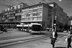 Zürich (vladixp) Tags: fp4 fp480 d76 14min 20c 12 praktica mtl5 flektogon k2 pf7250u 3600dpi 35mm fp4plus yellowfilter filmscan 35mmfilm film bw bwfilm filmphotography negative scanned ilford graubünden grigioni grisons svizzera schweiz switzerland suisse zürich