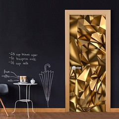 Papier-peint pour porte Photo wallpaper Golden Geometry I (emmanuel_delahaye) Tags: papier mobilier deco artgeist recollection decointerior interiordesign design home décoration papierspein