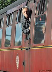 SVR Autumn Steam Gala (2018) 13 (Row 17) Tags: england shropshire bridgnorth train travel traveller travellers transport people man men passengers railway railways svr severnvalleyrailway candid portrait nikon d90