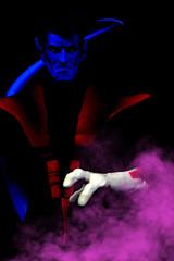 """""""You talking to me?"""" (MARVEL_DOLLS) Tags: marvel xmen comicbook nightcrawler kurtwagner thefuzzyelf superhero excalibur 16scale marvellegendsicons actionfigure 12inchfigure bluedevil mutant toy minimalistphotography minimalism playscale"""