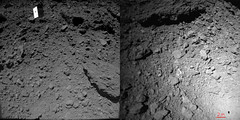 Hayabusa 2 and MASCOT lander imaging the same scene (Thomas Appéré) Tags: asteroid astéroïde ryugu hayabusa2 cnes dlr jaxa mascot pointofview space espace pointdevue astronomy astronomie science exploration robot