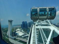 Singapore Eye (SFB579 Namaste) Tags: wheel singapore east oriental architecture sky blue roof skybar