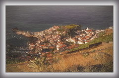 Camara De Lobos(Madeira) (williamwalton001) Tags: pentaxart plants ocean colourimage church coastal village buildings boats landscapephoto texture