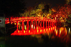 Hanoi by night. Rising Sun Bridge (Andrey Sulitskiy) Tags: hanoi hoankiem vietnam