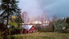 Kerava fall (sakarip) Tags: sakarip kerava evening fall autumn buildings countryside country finland trees barn kylätie