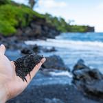 Schwarzer Sand Strand Maui Hawaii Hana thumbnail