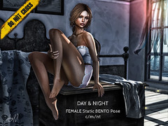 -DNC- Day & Night - Female BENTO Pose (Asier Mars -DNC- Bento Poses) Tags: dnc female bento femenine pose poses hands hand static sensual sexy seated