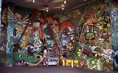 Colossal Media Building (neilsonabeel) Tags: nikonfm2 nikon nikkor film analogue streetart mural brooklyn newyorkcity