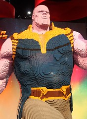 2018-Thanos Statue at the Lego Booth at SDCC-04 (David Cummings62) Tags: 2018 sandiego ca calif california comiccon con davidcummings davecummings photos lego thanos statue legobooth avengers movie marvelcomics infinitygauntlet