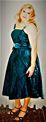 petrol ballgown (Martina H.) Tags: blonde girl woman dress gown petrol evening elegant beauty party cocktail ball satin formal prom