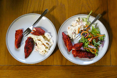 Starters (David JP64) Tags: chicken tikka coleslaw salad starters stacksteads lancashire