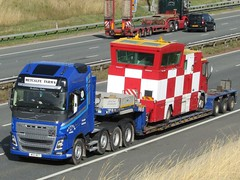 Metcalfe Farms, Volvo FH With Airfield Mobile Control Vehicle. (Gary Chatterton 4 million Views) Tags: metcalfefarms megatruckers volvofh airfieldmobilecontrolvehicle lowloader transport haulage truck trucking lorry wagon heavyload hgv heavygoodsvehicle flickr explore photography canonpowershot motorway