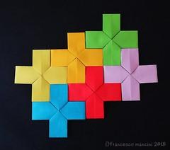 Pythagoras' tree tess (mancinerie) Tags: origami modularorigami tessellation paperfolding papiroflexia papierfalten francescomancini mancinerie pythagoras