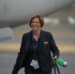 Crew Member (Scott 97006) Tags: woman female lady crew airlines smile uniform travel airport runway alaskaairlines