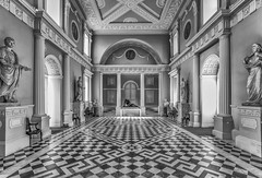 Syon House The Great Hall by Simon Hadleigh-Sparks (Simon Hadleigh-Sparks) Tags: building bw blackandwhite iconic isleworth indoor house simonandhiscamera syonpark syonhousepark syon syonhouse symmetry architecture brentford contrast london monochrome middlesex old pattern squares