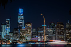 techno party belle (pbo31) Tags: sanfrancisco california nikon d810 color city urban october 2018 boury pbo31 fall night black dark treasureisland lightstream motion traffic skyline salesforce tower ferrybuilding 181fremont sail belle techno party bay cruise hornblower blur boat tourist streetlight ferry