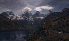 Cordillera de Huayhuash Peru (Pablo RG) Tags: nature landscape paisaje sky noche night andes peru montañas mountains