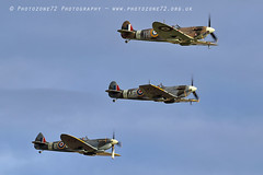 7464 Spitfires (photozone72) Tags: duxford iwmduxford warbirds wwii spitfire canon canon7dmk2 canon100400f4556lii 7dmk2 airshows aircraft airshow
