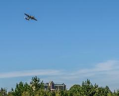 B-25 Over The Speeedway (Neal3K) Tags: atlantaairshow atlantamotorspeedway hamptonga georgia airplanes flying b25 ww2bomber b25mitchell