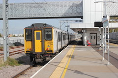 New Station , Old Train . (AndrewHA's) Tags: cambridge north railway station train abellio greater anglia class 317 electric multiple unit emu 317348 west anglian main line stopping passenger service new building