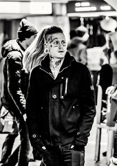 STAY TRUE... (mikeback-streetphotography) Tags: streetstyle streetphotographer stockholm streetarteverywhere streetportrait streetphotographystreet streetlife streetphoto streetartistry streetphotography street station streetphotographers streetart bnw urban monochromatic monochrome mono blackwhite black blackandwhite blackandwhitephotography