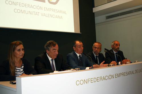Eva Blasco, Juan Rosell, Salvador Navarro, Perfecto Palacio y Miguel Ángel Javaloyes