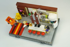 The Incredibles - Just an ordinary day (skallesplitter) Tags: lego incredibles superhero kitchen fridge refigerator vignette diorama
