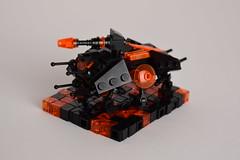 AT-TE (WG Productions) Tags: lego star wars moc tron legacy atte te clone starwars clonewars black orange republic gar micro scale