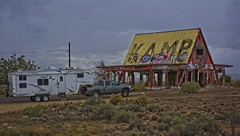 AND KAMP THEY DID (akahawkeyefan) Tags: trailer rv davemeyer towguns arizona graffiti