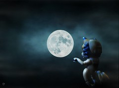 Dolltober Day 23 : Lunar. (Chantepierre) Tags: bjd balljointeddoll balljointed doll aimerai michigan dogman fc fullcusto full custo custom chantepierre ladicius dolltober2018 dolltober 2018