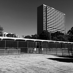 Aura Lee Playing Field, Toronto (gt223) Tags: minimalism modern contemporaryphotography contemporary blackandwhite brick concrete apartment modernarchitecture architecture theannex auralee toronto