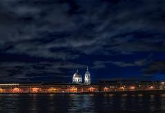 Glow (rsvatox) Tags: night colours river citylights buidings sailntpetersburg architecture nightphotography city sky clouds saintpetersburg leningradoblast russia ru