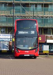 AB 2613 - SN18KLD - PECKHAM BUS STATION - THUR 6TH SEPT 2018 (Bexleybus) Tags: adl dennis enviro 400 peckham bus station south east london mmc abellio 2613 sn18kld hybrid tfl route 381