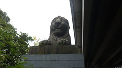 Lion In Wait (jpcrocks450) Tags: lion statue stonestatue britanniabridge wales northwales anglesey