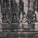 Stone carvings in the temple ruins of Preah Khan in Angkor Archeological Park near Siem Reap, Cambodia thumbnail