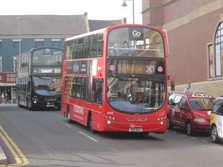 Go North East 6002 (NK11 BHA). Eldon Square Bus Station, Newcastle