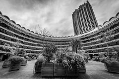 DAN_5031 (dan_c_west) Tags: nikon d750 london city urban uk england architecture building structure barbican estate wide angle bw black white monochrome brutalism concrete