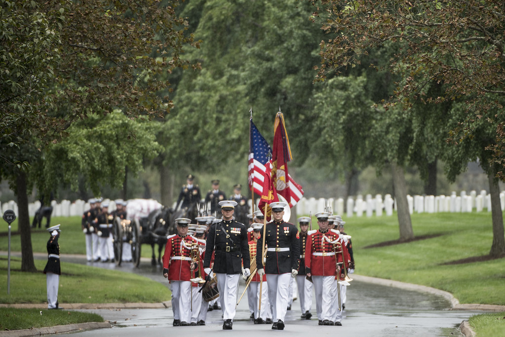 Group Repatriation Military Funeral Honors With Funeral Escort for Vietnam  War Service Members in Section 60