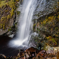 Force Gill (alan.dphotos) Tags: rock rocks moss green leaves leaf waterfall copper grass hill whitewater long exposure mono autumn water colors forcegill slackhill force gill slack fall ribblehead yorkshiredales yorkshire dales landscape landscapephotography