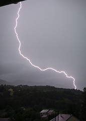 Close to me (Lolo_) Tags: lightning storm dévoluy agnières paca hautesalpes france orage thunderstorm éclair foudre proche toits roofs